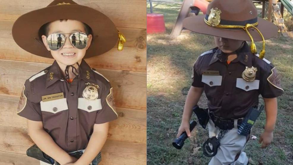 4-year-old dresses as Oklahoma Highway Patrol trooper for Halloween