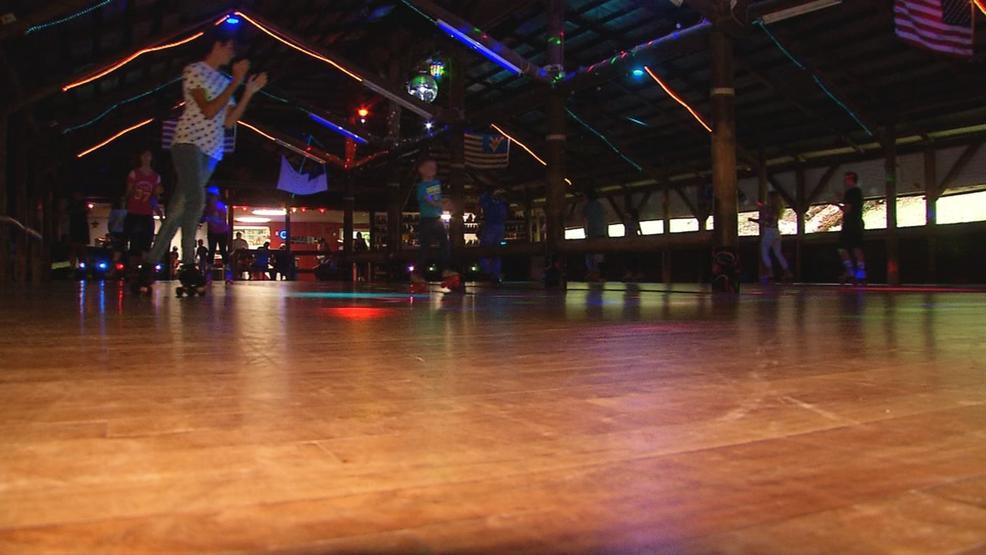 Traveling WV Ansted Roller Skating Rink WCHS - Roller skating rink flooring for sale