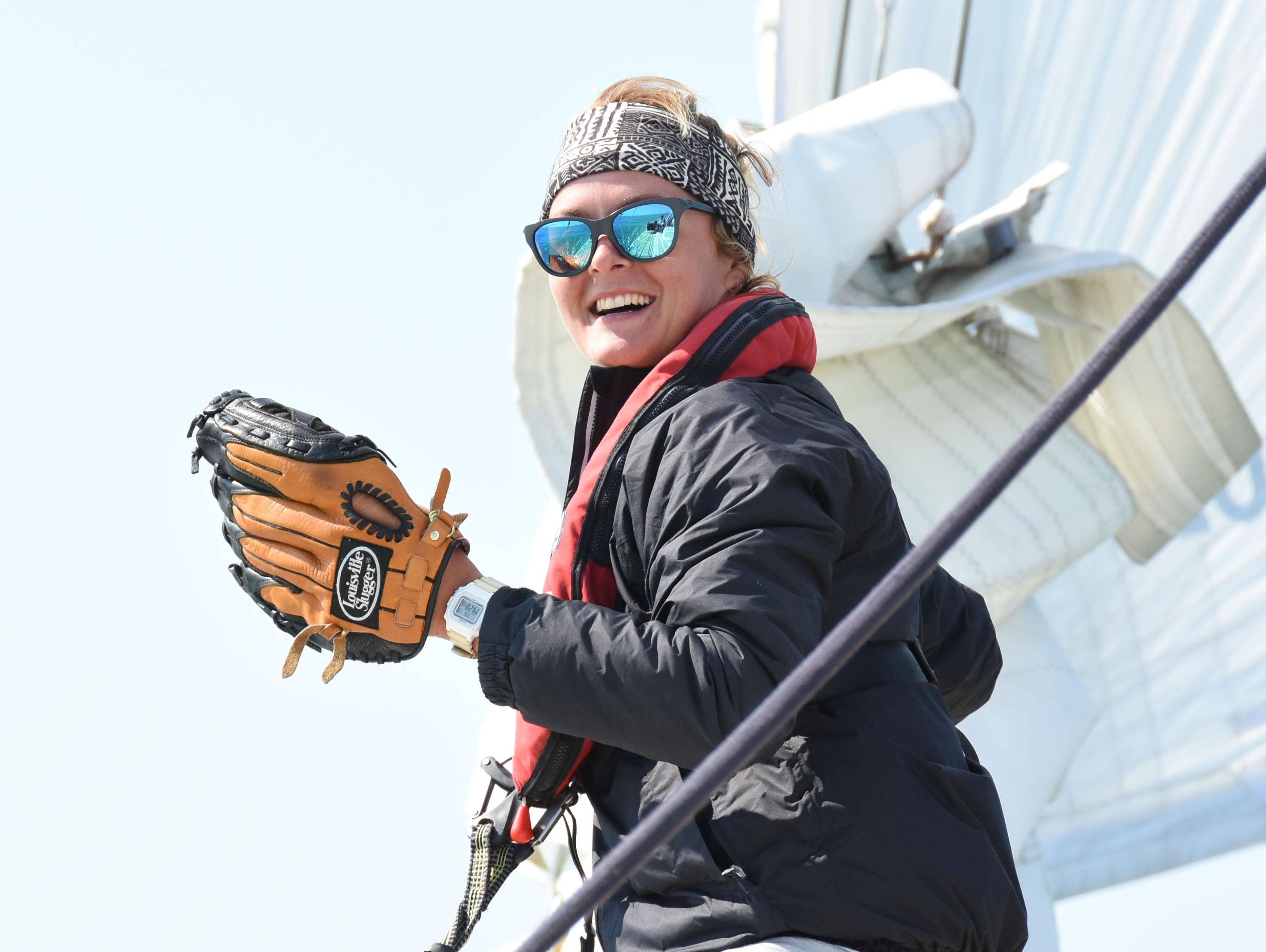 Nikki Henderson, who at age 24 is the Clipper Race's youngest ever skipper.