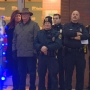 NWTC dedicates blue light display to law enforcement
