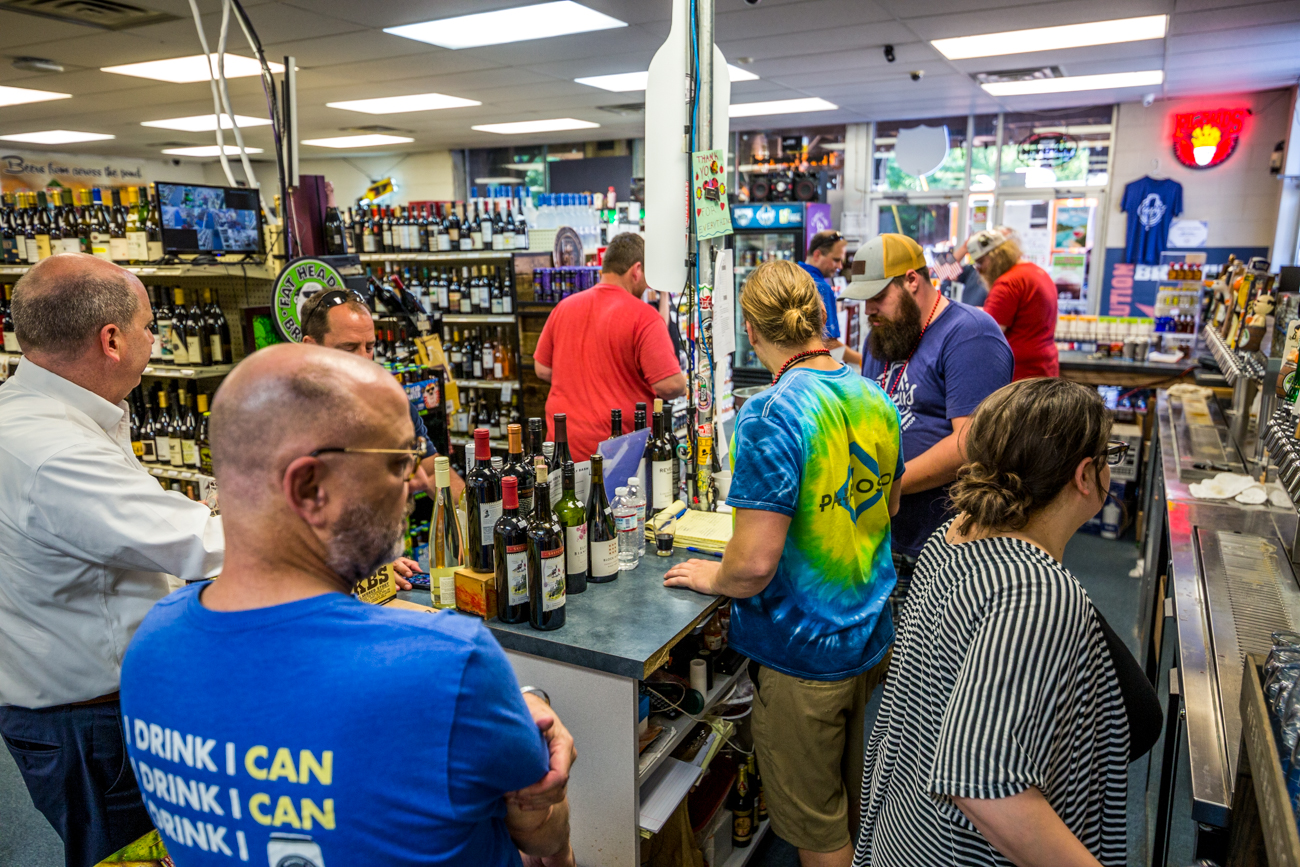Cappy's stocks a variety of wine, liquor (especially bourbon), and hard-to-find beers. The bar's extensive tap list offers something for every beer drinker, including the option to take home a 32 or 64oz growler. / Image: Catherine Viox // Published: 7.19.19