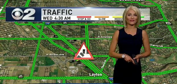 Jenny Hardman not only does morning traffic for 2News, she does it in style. (Photo: KUTV)
