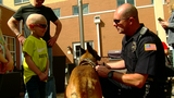 A boy and his dogs: 5-year-old welcomed by K9 officers before cancer treatment