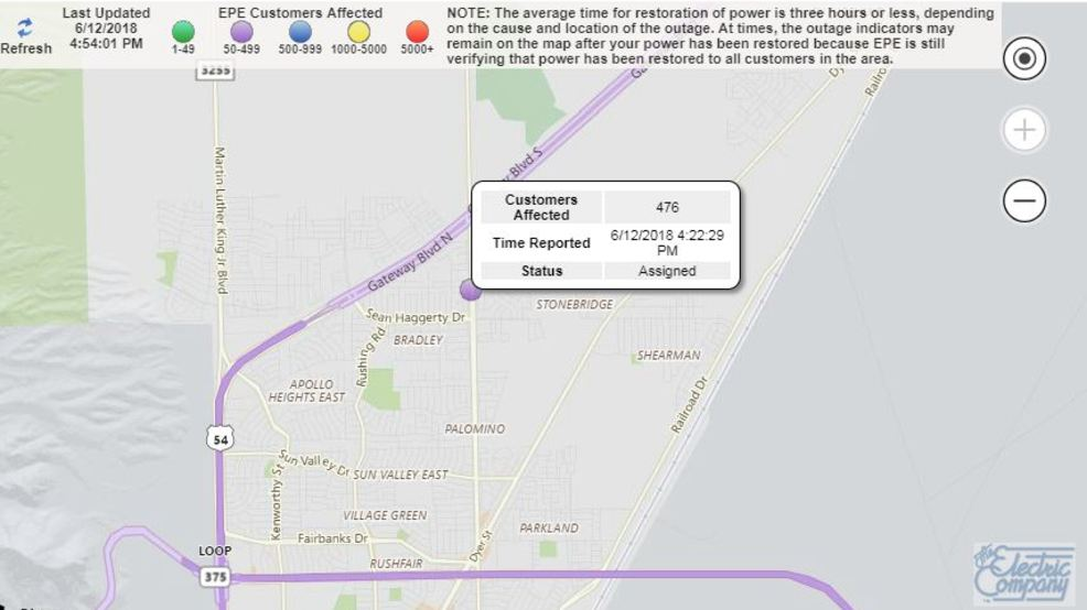 Northeast Power Outage Map.Power Restored After Outage In Northeast El Paso Kfox