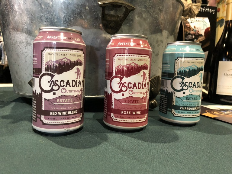 Wine in a can from Cascadian Outfitters. (Image: Frank Guanco)