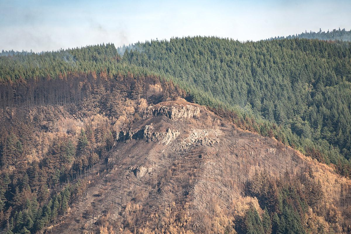 Angel's Rest - Crews are working to contain the Eagle Creek Fire, a human-caused fire burning thousands of acres in Oregon's Columbia River Gorge and threatening several natural landmarks. (Photo taken by Chris Liedle on September 10, 2017)