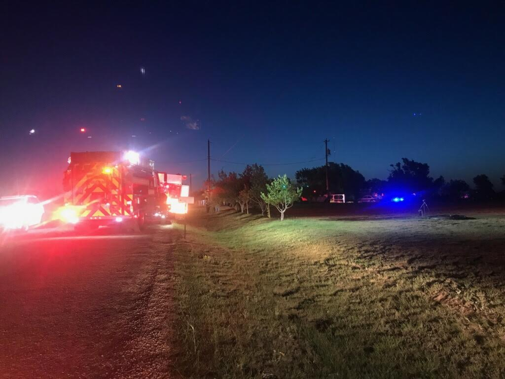 Firefighters working on a fully engulfed double wide trailer home. (ABC 7 Amarillo - Nataziah Gipson)