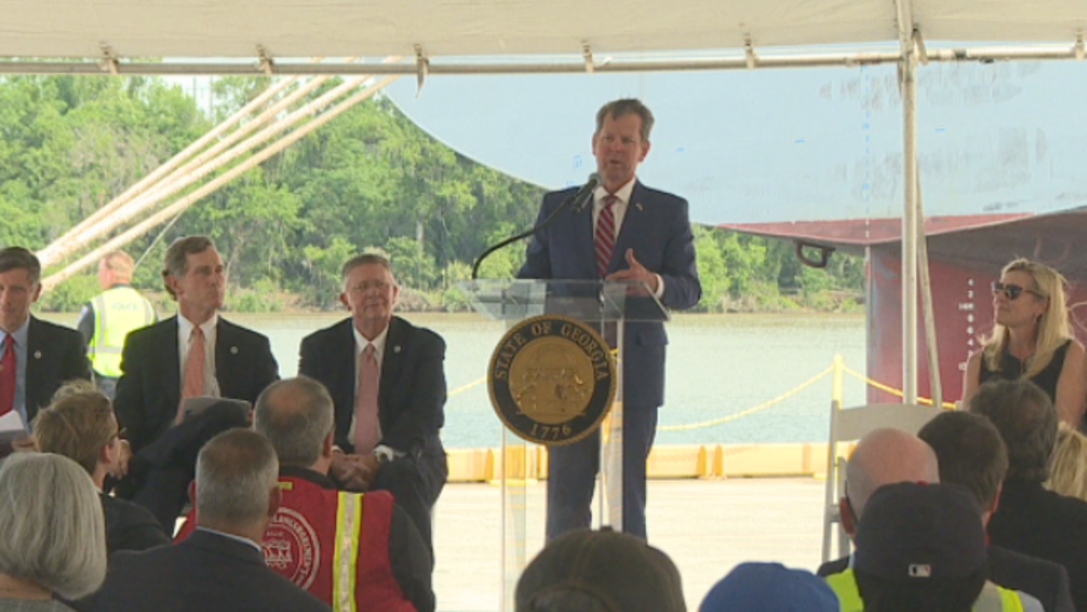 Gov. Kemp announces new port investment project that will create jobs in Chatham County