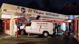 Driver arrested after van crashes into Providence restaurant