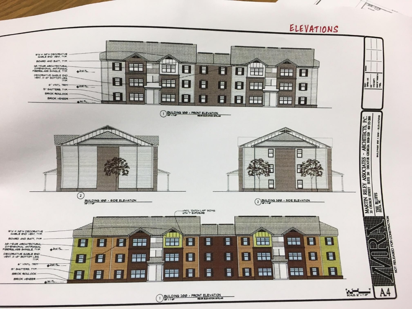 Proposed sylva apartments address rental demand wlos for Apartment complex blueprints