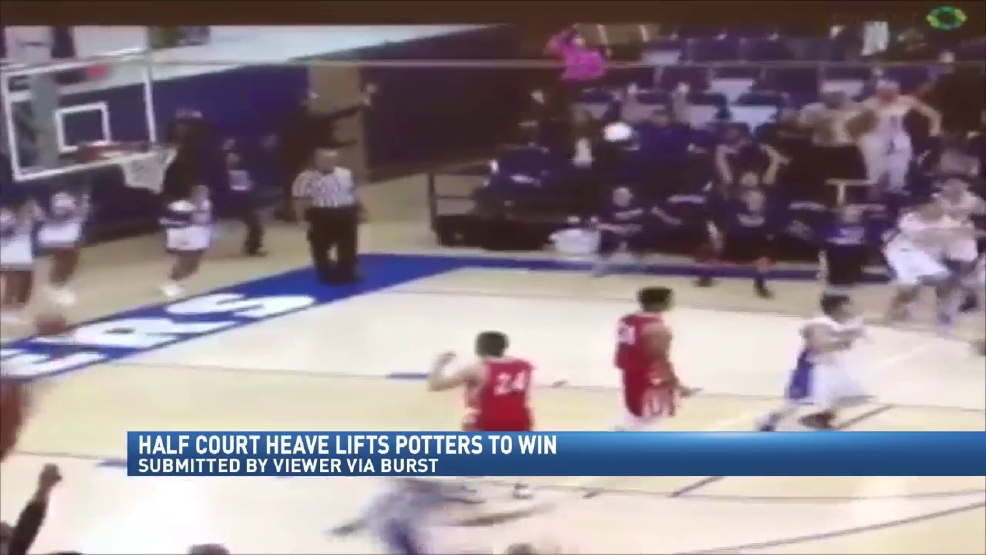 Viewer video via Burst: Potter sophomore half court buzzer beater beats Beaver Local