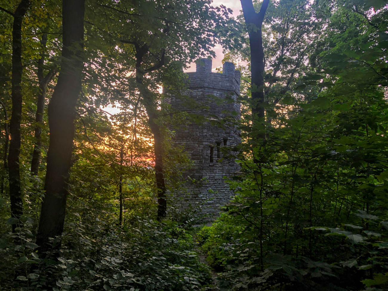 PLACE: Patterson Tower in Hills and Dales MetroPark / ADDRESS: 2655 S Patterson Boulevard (Kettering) / If you head about an hour north of Cincinnati near Dayton, you'll find the Patterson Tower platform in the Hills and Dales Metropark. In 1967, a teenager named Peggy Harmeson was killed on the tower's metal stairs when it was struck by lightning. Legend has it that during storms, her ghost can still be seen today. Today, the tower door is cemented shut and all the windows are barred. Peeking through the windows does provoke some heebie-jeebies, resulting in a 3/10 on our Spookiness Scale. / Image: Di Minardi // Published: 7.23.19