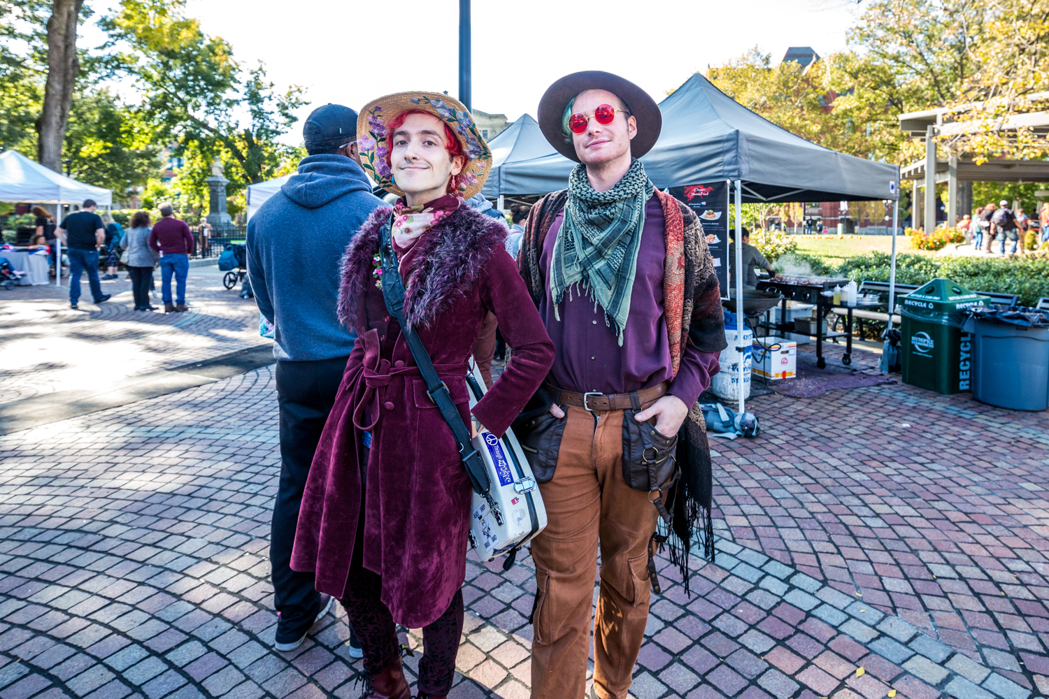 Corwin Zekley and Jay Drapes of Snaps for Sinners at Fall Fest in Washington Park / Image: Catherine Viox // Published: 11.1.19
