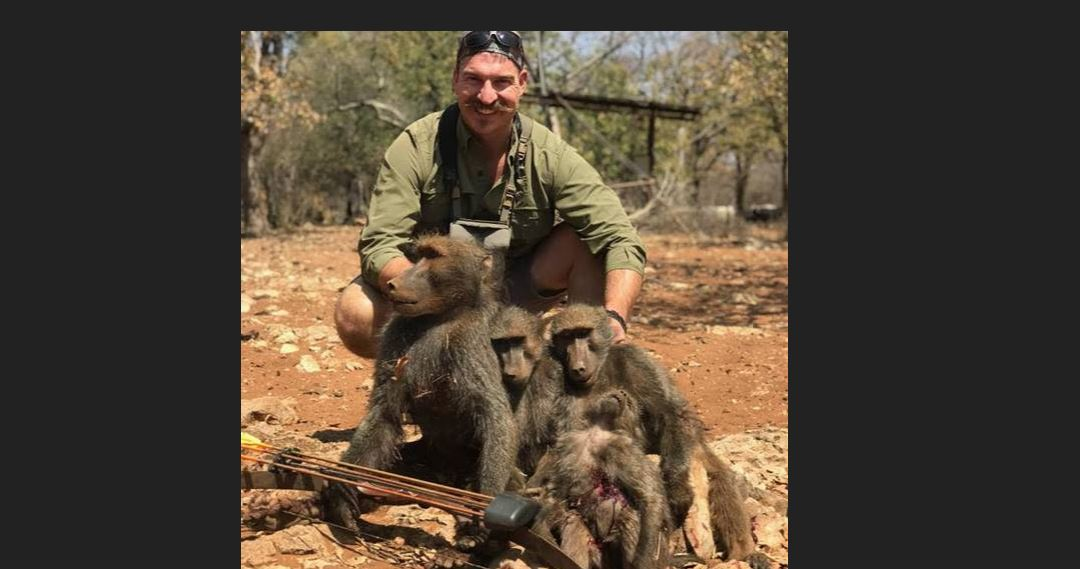 An Idaho Fish and Game commissioner who emailed photos of himself posing with a family of baboons he shot and killed during a recent African hunting trip has led to former commissioners asking for his resignation. (Photo via Idaho governor's office)