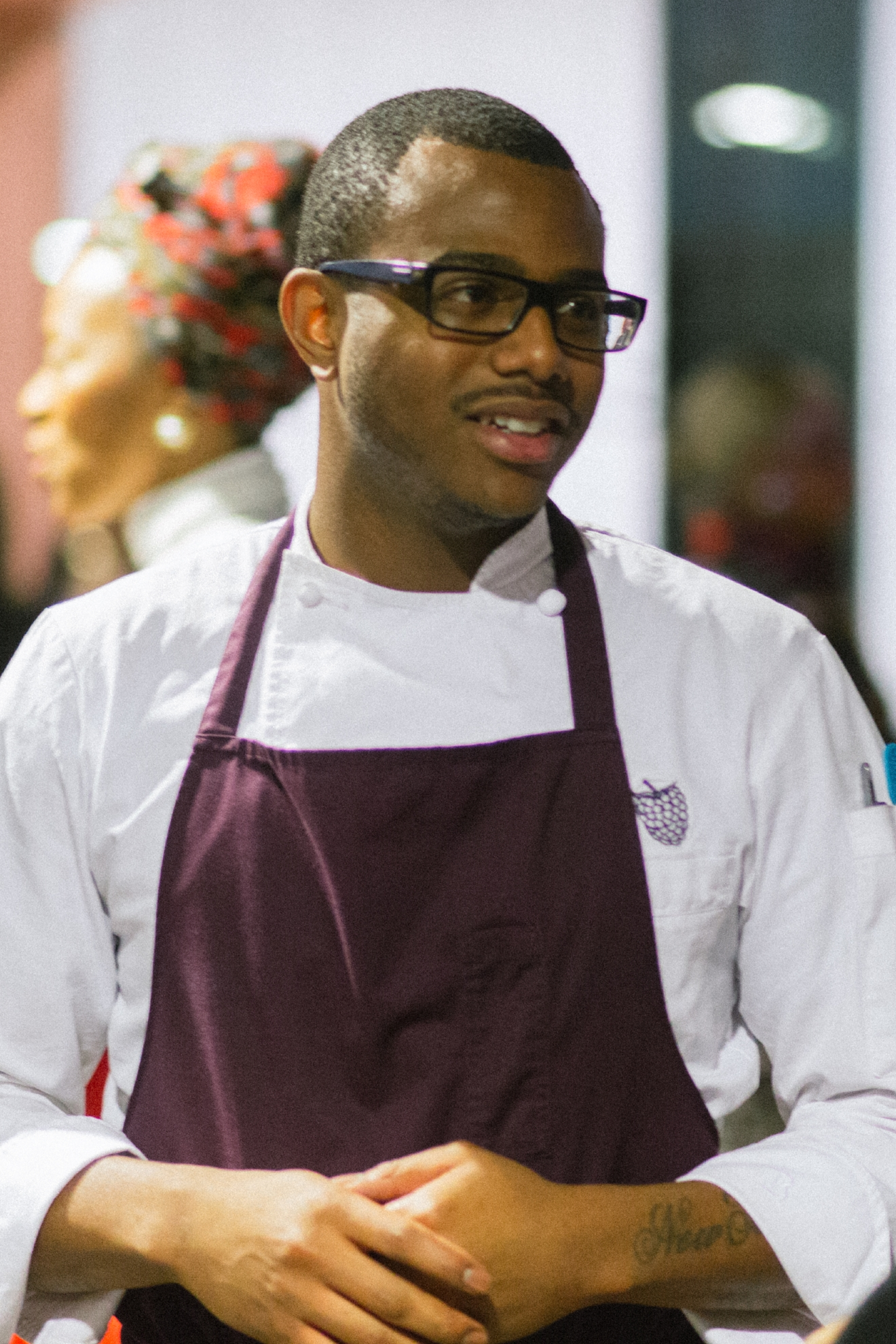 Chef Kwame Onwuachi, whose high-end prix fixe restaurant The Shaw Bijou opens in November, created a four-course meal designed to explore different eras and regions of African American cuisine. (Image: Robert Chicoine)