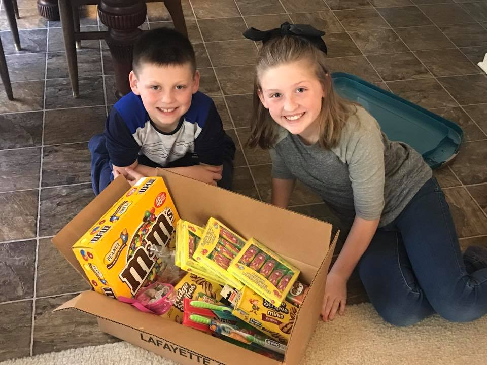 Edwardsburg siblings are using 40 days of Lent to collect items to send to military troops.