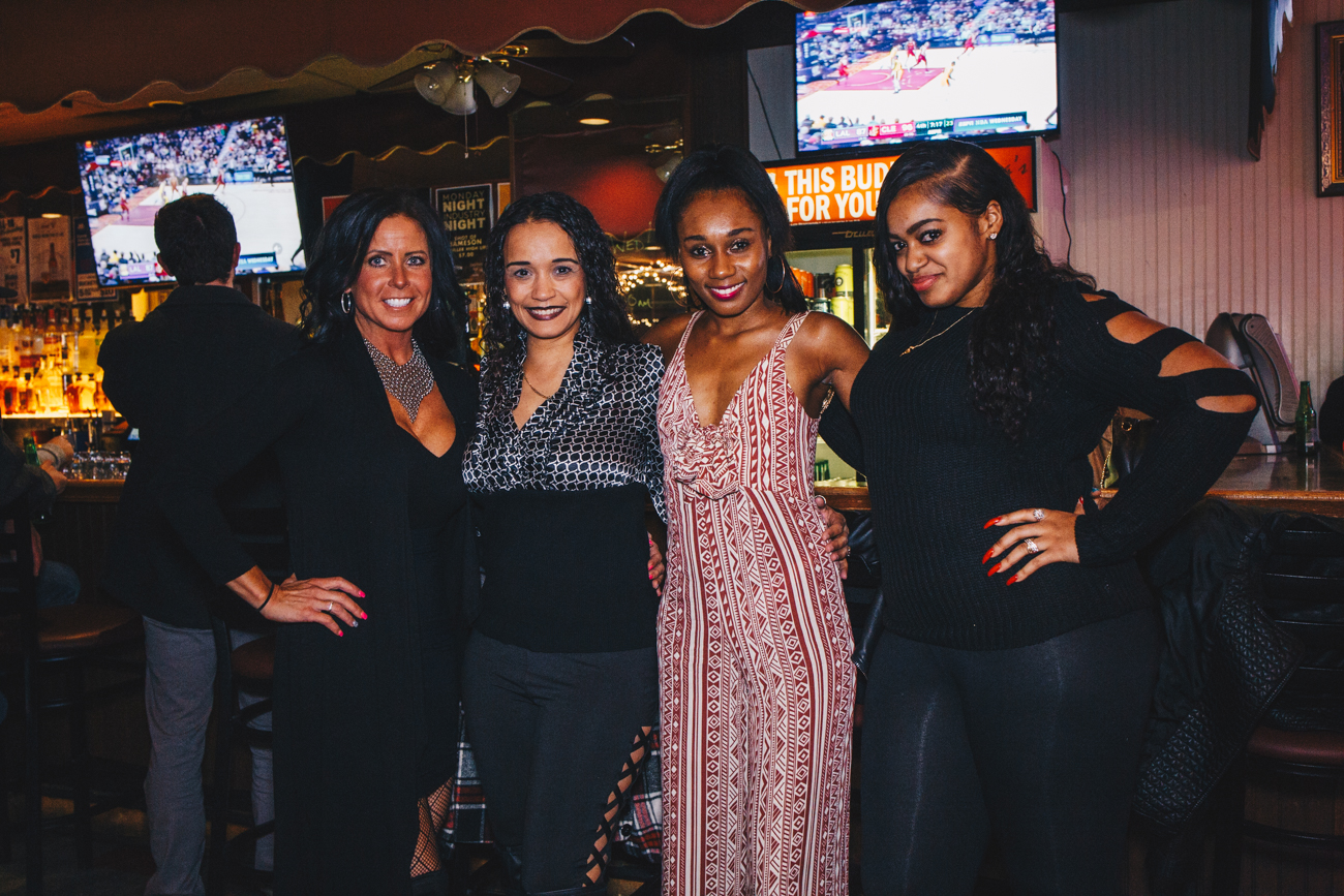 Lindie Riley with Lois, Reniah. and Ciera Walker at Madonnas on the biggest bar night of the year, Nov. 21, 2018 / Image: Catherine Viox // Published: 11.30.18<p></p>
