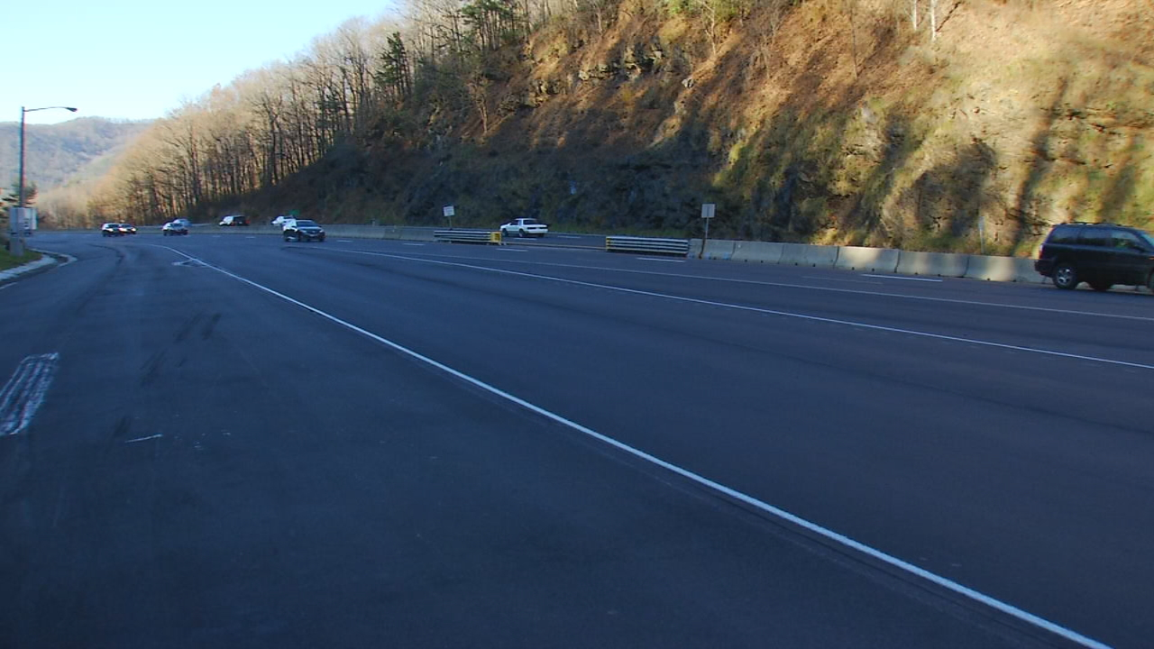 """Driving I-40 east or west on the mountain is very dangerous when it is dark and raining or foggy. They need to get the highway reflectors in so you can see where the lanes are or even which way the road curves,"" Cindy Inman said in an email to Ask 13. (Photo credit: WLOS staff)"