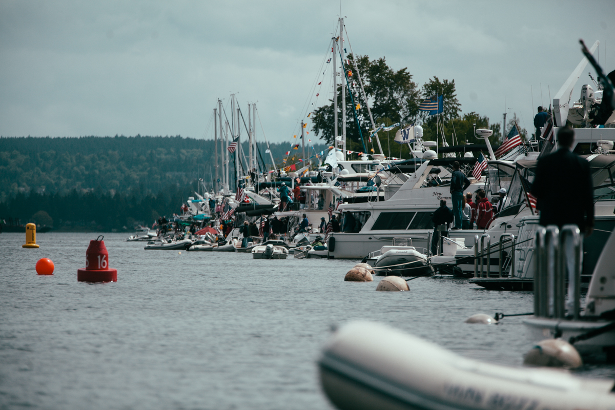 Thousands came out for Opening Day, the official opening of Seattle's boating season sponsored by the Seattle Yacht Club. The festivities included a morning of crew races, a sailboat race, and the grand Opening Day boat parade. May 3rd 2014. (Joshua Lewis / KOMO News)