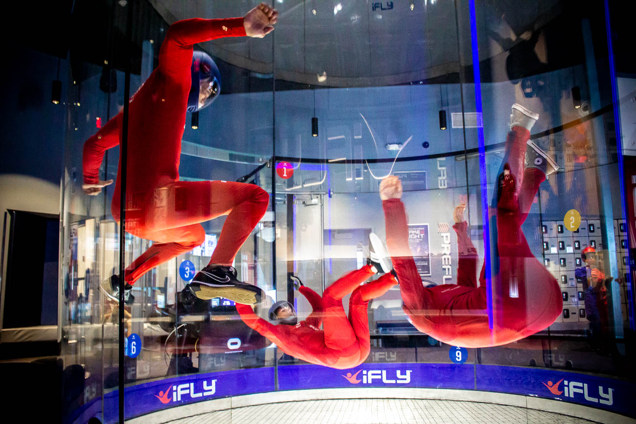"<p>13. Go skydiving / ""Wait, what? That's an outdoor activity."" Normally, yes. But you can also skydive indoors in Liberty Township at iFLY Cincinnati. After entering a powerful vertical wind tunnel, flyers ride the wind as if they were skydiving. It's a great way to blow through an hour of the day in a totally unique way. Plus, it's fun recording your friends as they flail about awkwardly in the tube. / Image: Katie Robinson // Published: 1.25.20</p>"