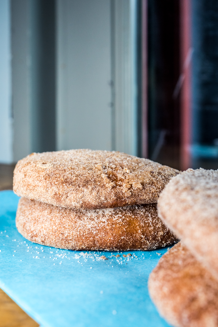 Sweet Buns: two fried buns, ginger, cinnamon sugar, sesame, and caramel / Image: Catherine Viox // Published: 6.4.20