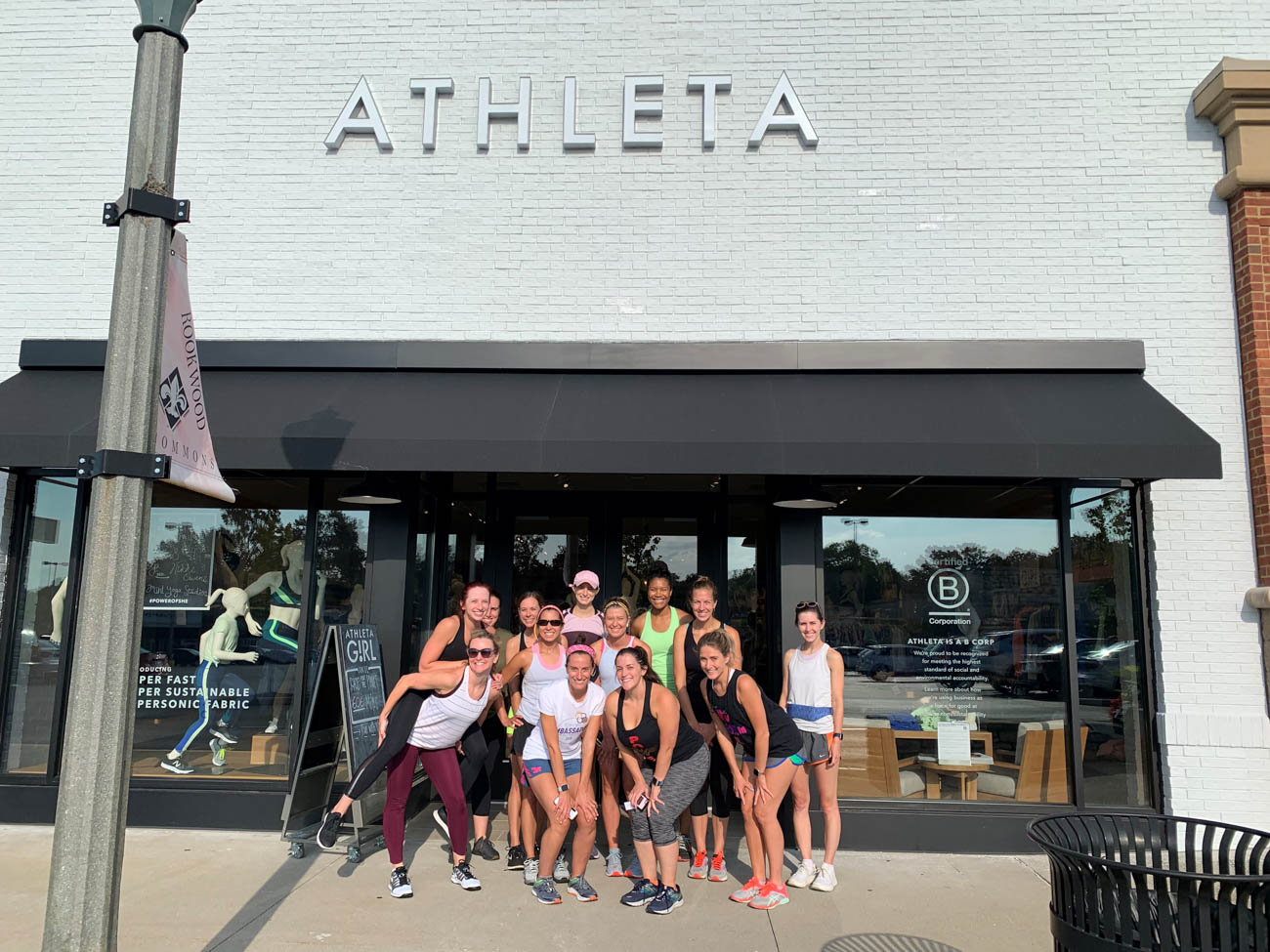 "Athleta's ""Race for the Planet"" Run Club challenged its nationwide community to run the total circumference of the earth—24,901 miles. Every Wednesday in August, the Cincinnati team gathered for a group 5K. And for every mile run, walked, or biked, Athleta donated $1 to The Nature Conservancy. The Rookwood Commons location had a goal of contributing 1,000 miles to the cause, but ended up logging 2,107 miles. ADDRESS: 2661 Edmondson Road (45209) / Image courtesy of Athleta Rookwood // Published: 9.16.19"
