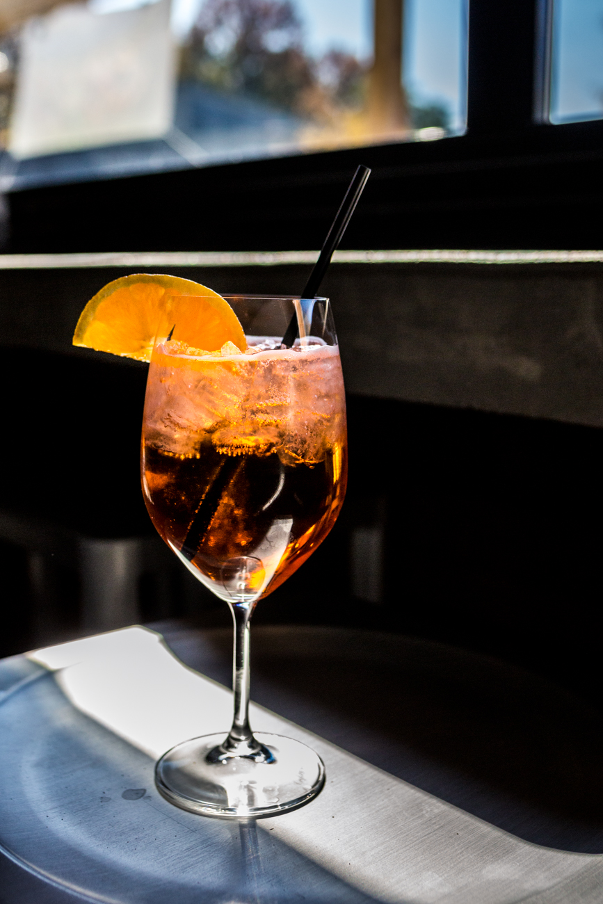 Aperol Spritz: Aperol, La March Prosecco, and soda served with an orange slice / Image: Catherine Viox{ }// Published: 11.10.19