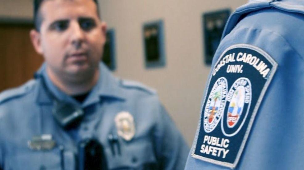 "Coastal Carolina University public safety officers sporing new :Armorskin"" uniforms"