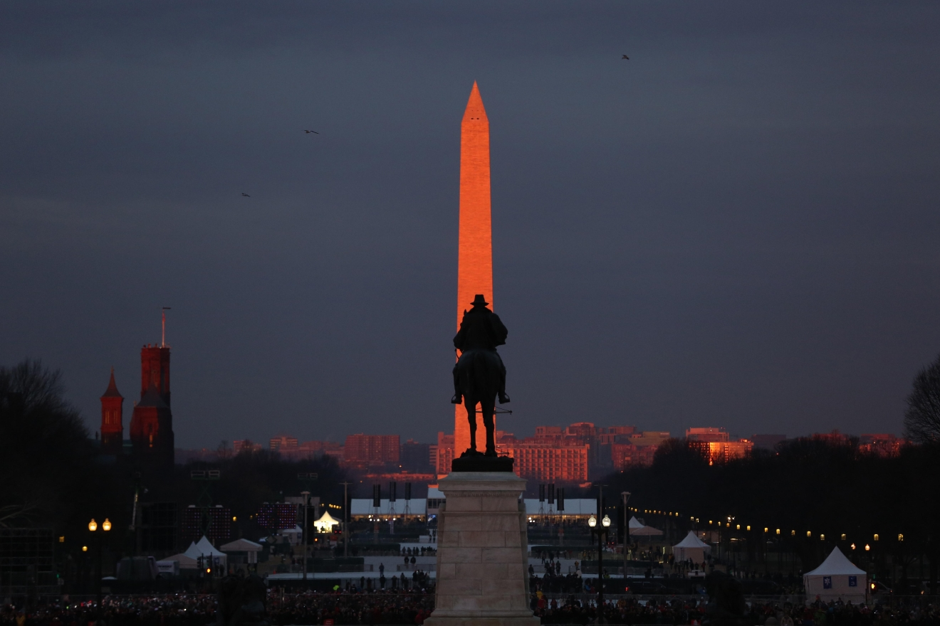 Dawn from the inauguration. (Amanda Andrade-Rhoades/DC Refined)