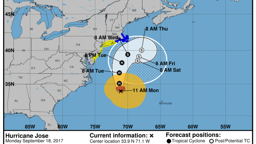 Storm Team 10: Tropical storm warning posted ahead of Jose