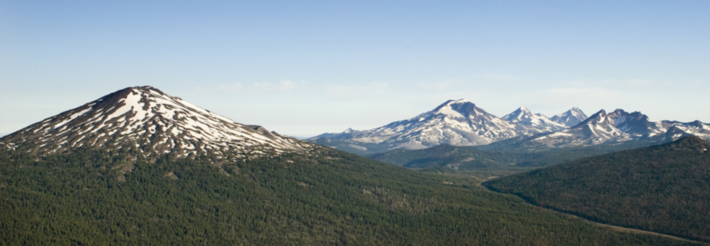 Mount Bachelor, Three Sisters and Broken Top in Central Oregon (USDA Forest Service)