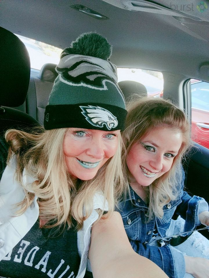 Philly girls super excited for the Eagles