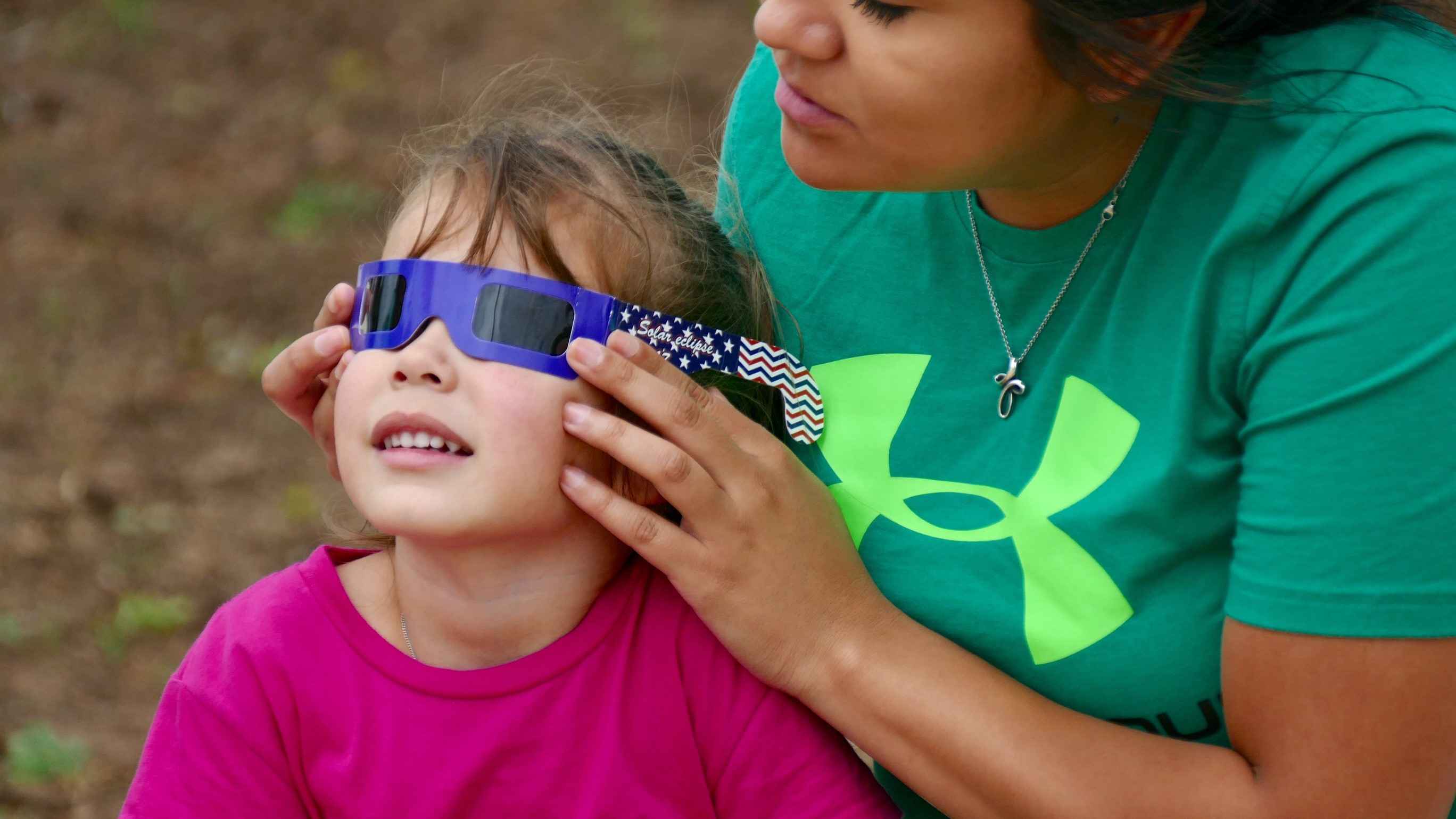 Locals turn out for the eclipse at the Don Harrington Discovery Center on August 21, 2017. (KVII)