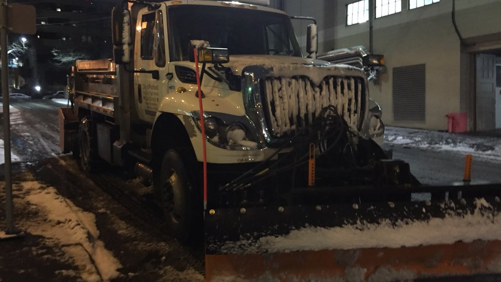 PBOT interactive map shows which roads have been treated for snow