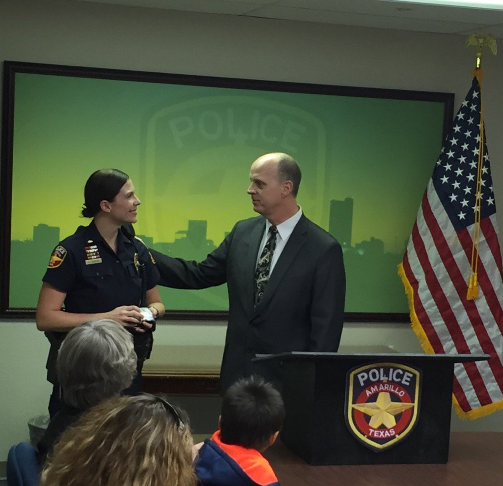 Amarillo police have promoted Lt. Elizabeth Brown to the rank of captain. Brown is the first female officer in Amarillo to reach the rank of Captain. (Photo: Amarillo Police Department Twitter)