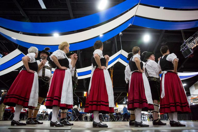 Oktoberfest Northwest boasts Washington's Largest Munich-style festhalle  at the Washington State Fair Event Center. The event German style beer,  brawts, hammerschlagen, beer pong, pretzels, and everything one might  need to have a great time. (Sy Bean / Seattle Refined)