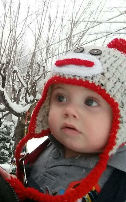 Photo: Sherry Banks, Baby's first snow<p></p>