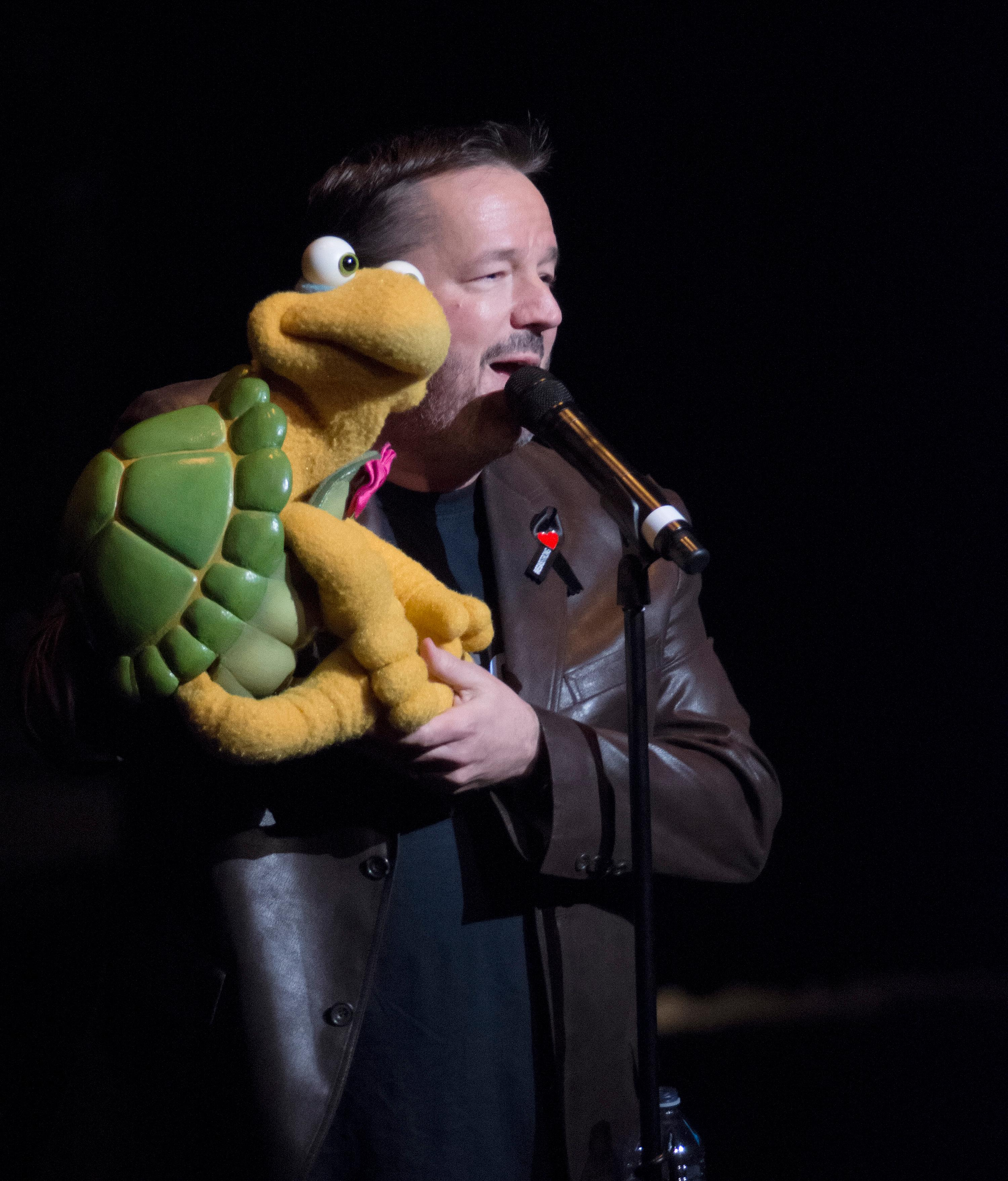 "Terry Fator performs during the ""Vegas Cares"" benefit concert at the Venetian Theatre in the Venetian hotel-casino at 3355 S. Las Vegas Blvd in Las Vegas on Sunday, Nov 5, 2017. The concert was sponsored by a group of Las Vegas entertainers, producers and business professionals to honor the victims and first responders from the 1 October shooting tragedy. CREDIT: Bill Hughes/Las Vegas News Bureau"