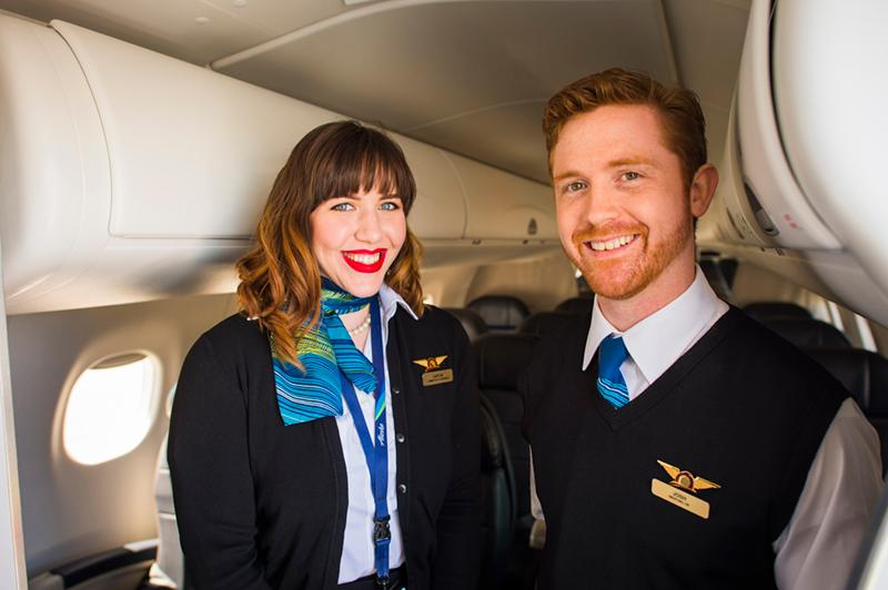 Horizon Air uniforms from the 2010s. Photo courtesy Alaska Airlines