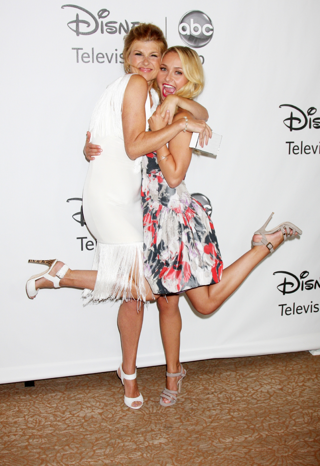 Connie Britton, Hayden Panettiere                  2012 TCA Summer Press Tour - Disney ABC Television Group Party held at The Beverly Hilton Hotel                  Beverly Hills, California - 27.07.12                                    Featuring: Connie Britton, Hayden Panettiere                  Where: United States                  When: 28 Jul 2012                  Credit: WENN