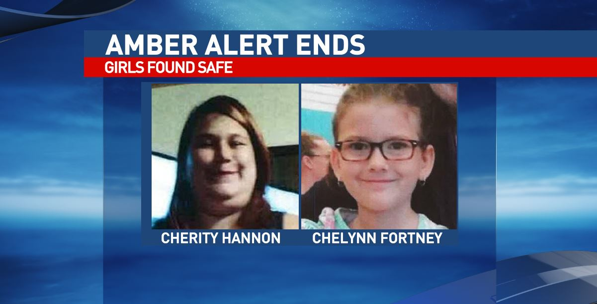 An AMBER Alert for two missing Cabell County girls has been canceled after they were found safe in West Virginia's Eastern Panhandle. (National Center for Missing and Exploited Children)
