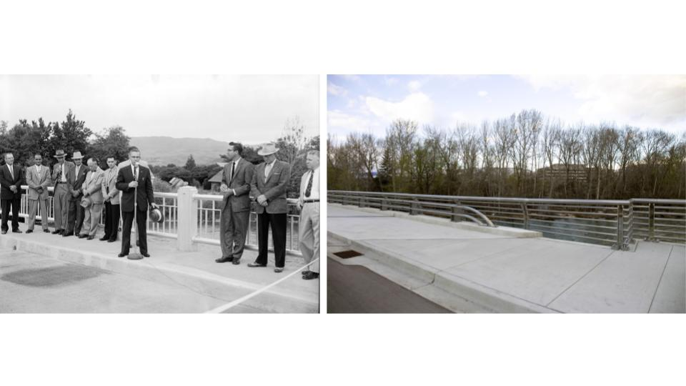 <p>Broadway Bridge dedication in Boise by Hon R.E.{&amp;nbsp;} Edlefsen, the Mayor of Boise from{&amp;nbsp;}1951 to 1959. (Kristen McPeek and Idaho Historical Society)</p>