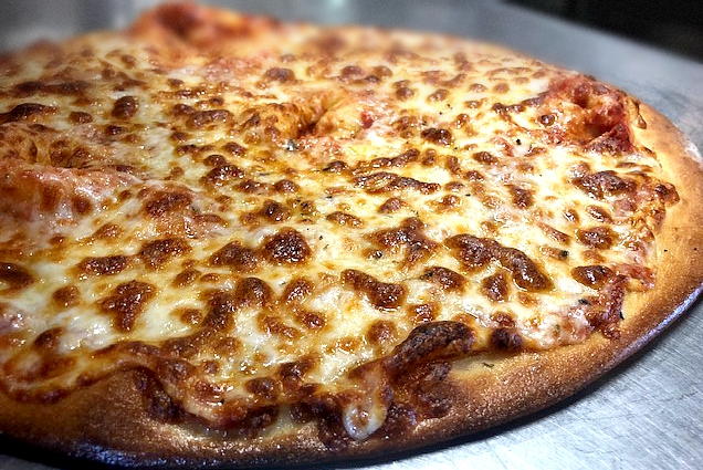 Thin crust cheese pizza pie{ }(image: Katheryn Parker)