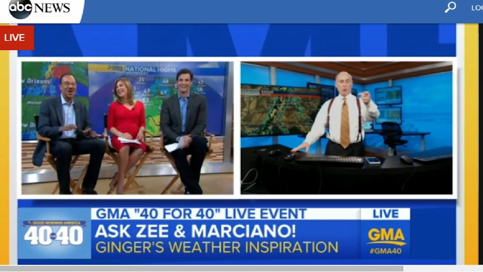 Abc 33 40 Chief Meteorologist James Spann Talks With Ginger Zee On Gma 40 Live Stream