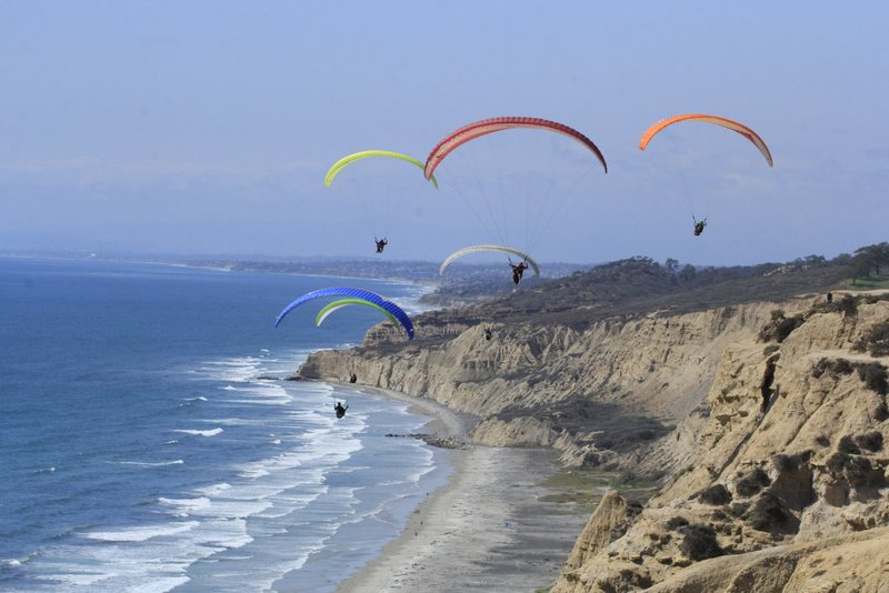 <p>DON'T: Don't just SIT by the beach! San Diego is full of adventure! Get out of your beach chair to take a surf lesson or hop on a SUP paddleboard. Head out for a hike on the many San Diego trails. Watch paragliding (or even do it yourself) at Torrey Pines Gilderport. (Image:{&amp;nbsp;}https://www.flytorrey.com/){&amp;nbsp;}<br></p>