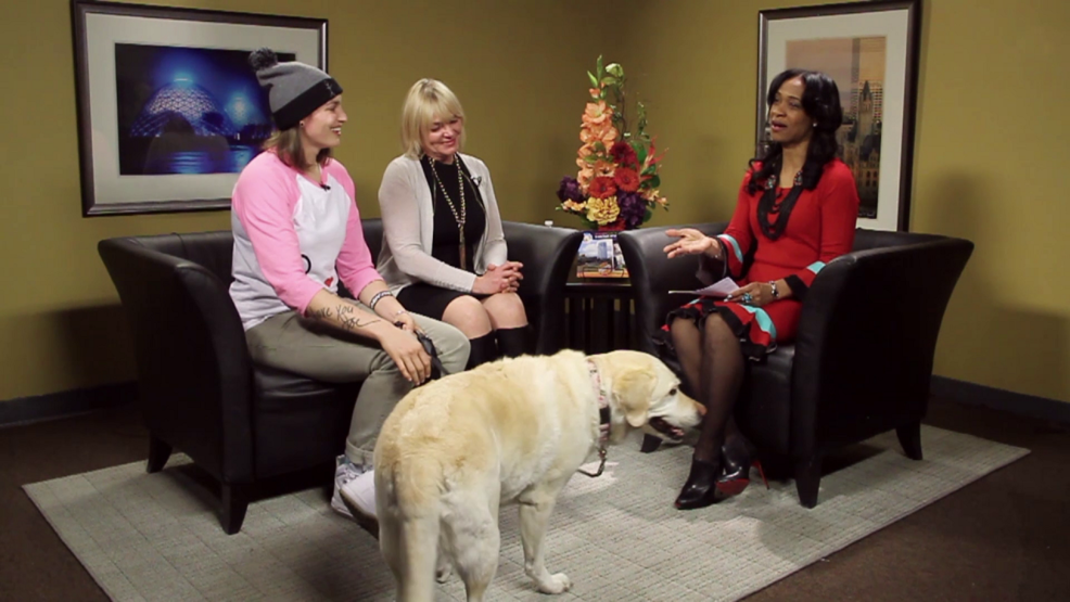 Shawna Nicols, Beth Weirick and Bob the dog.png