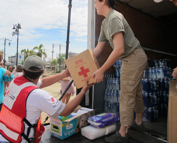(Photo courtesy Monique Dugaw, American Red Cross)