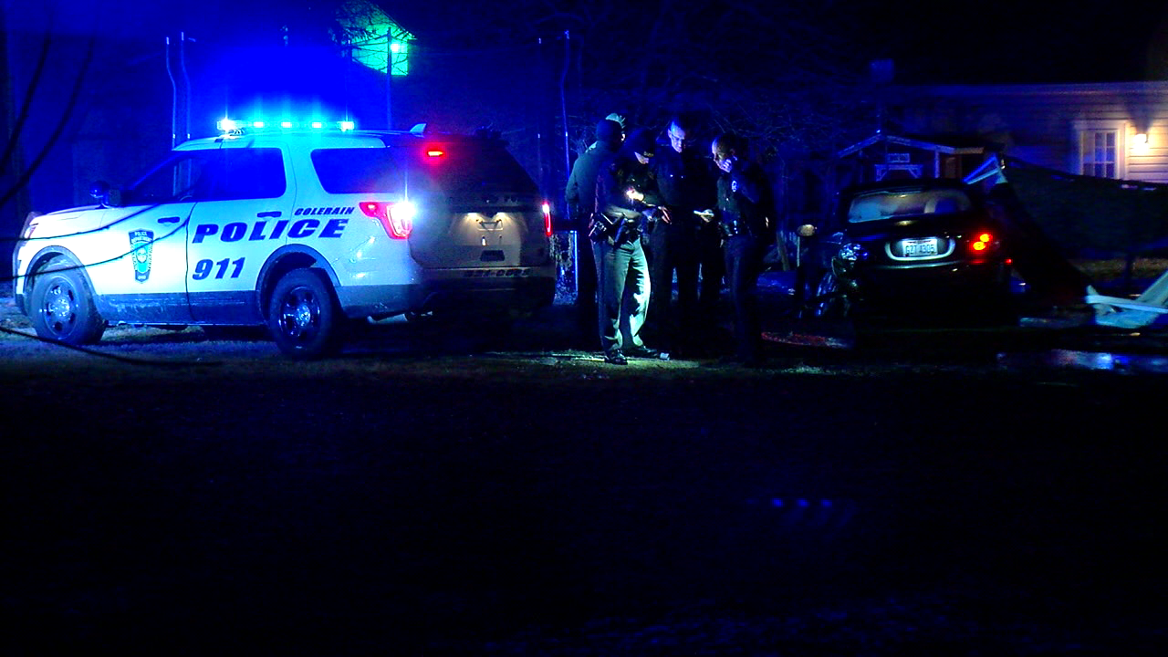 A police chase early Friday morning ended near Miami Whitewater Forest. (WKRC)