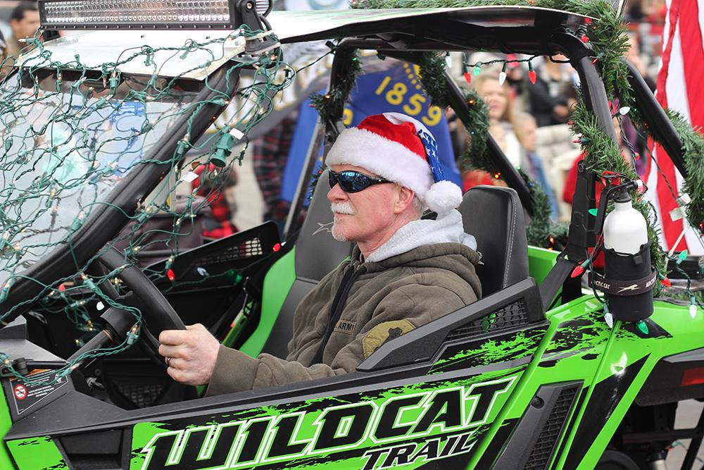 Veterans rode ATVS at the 63rd Annual Springfield Christmas Parade in Springfield, Ore., Saturday, Dec. 5. Photo by Claire Aubin.