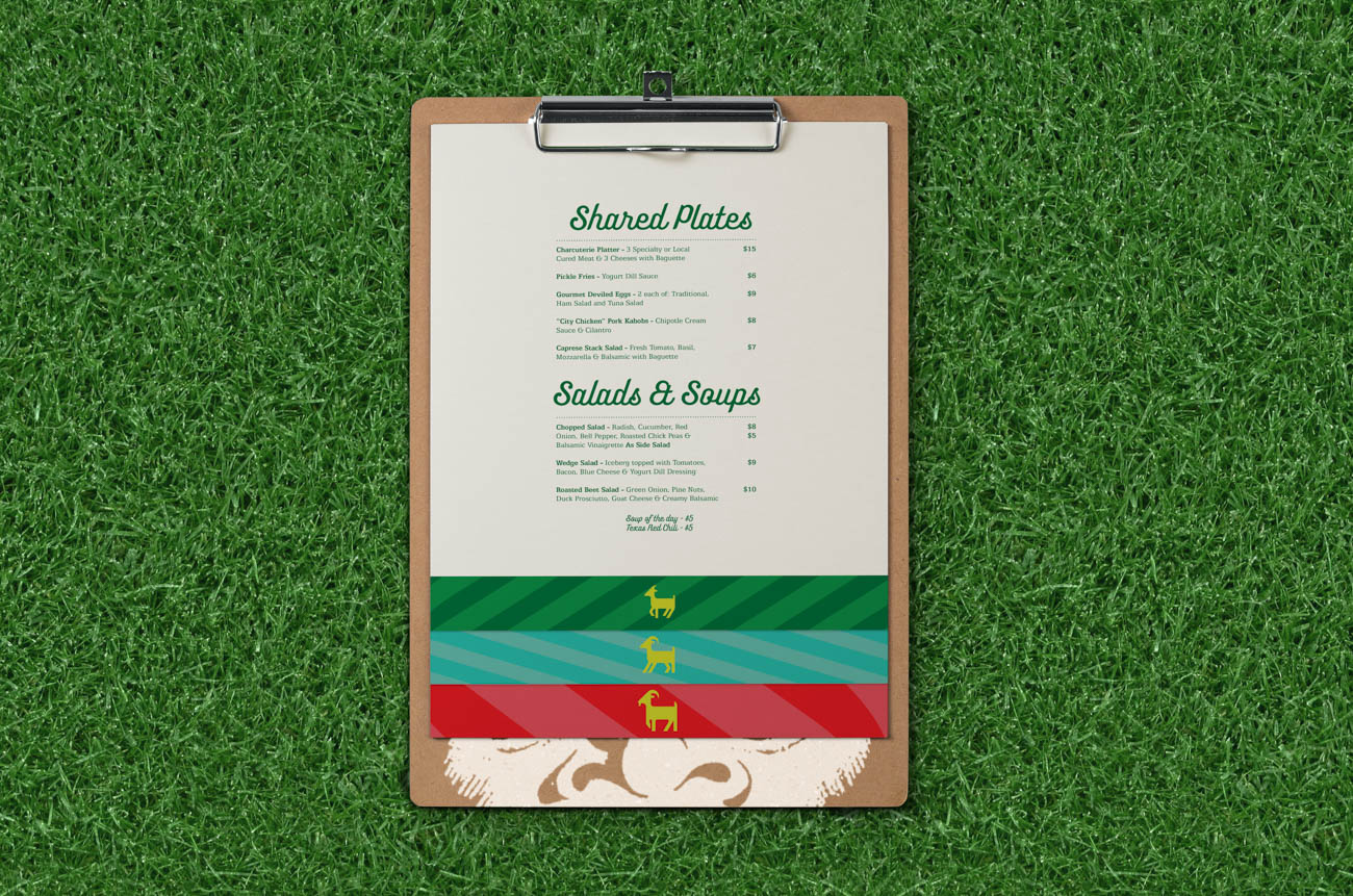 The menu at Gruff was designed by BLDG. / Image courtesy of BLDG Refuge // Published: 9.24.19